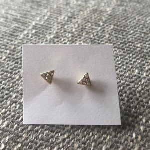 NWOT Anthropologie gold triangle earrings